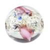 Glass Lamp Bead 8mm Round Crystal/Rose